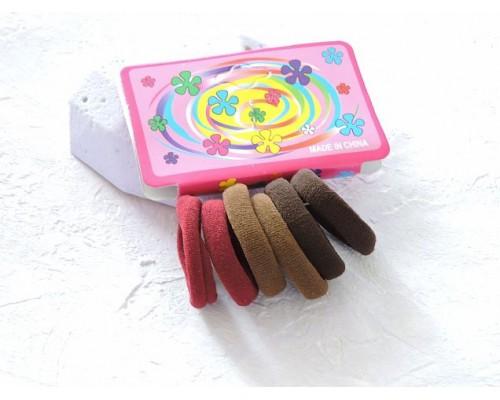 Резинки для волос 2,5 см, цв. ассорти № 3 - (упаковка 6 шт)