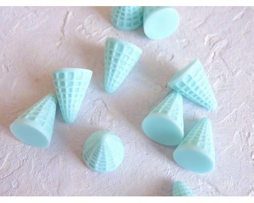 """Кабошон """"Рожок для мороженого"""", цв. светло-голубой - 1 шт."""
