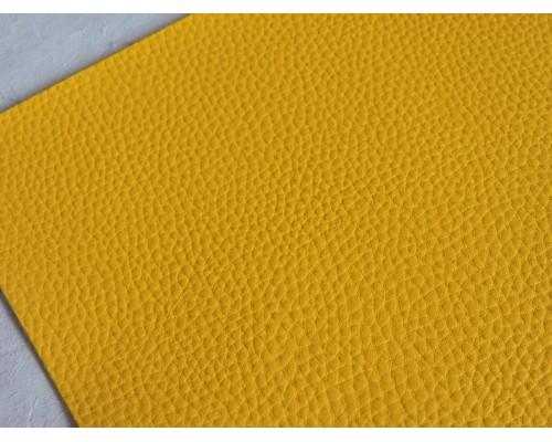 Кожзам зернистый  матовый, цв. желтый