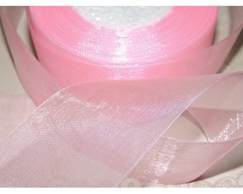 Органза однотонная 50 мм, цв. розовый - 1 м