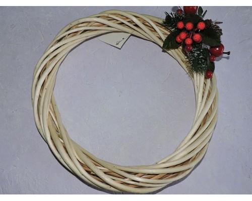 Венок из лозы 30 см, цв. натуральный - 1 шт.