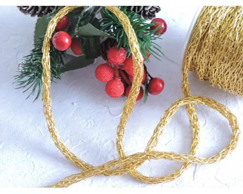 Шнур декоративный 6 мм, цв. золото - 1м.