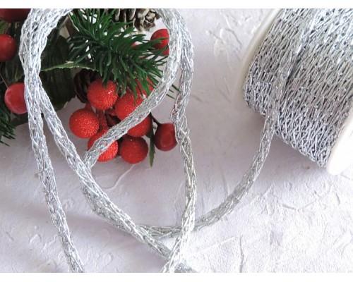 Шнур декоративный 6 мм, цв. серебро - 1м.