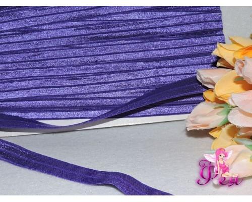 Тесьма эластичная 1,5 см, цв. фиолетовый