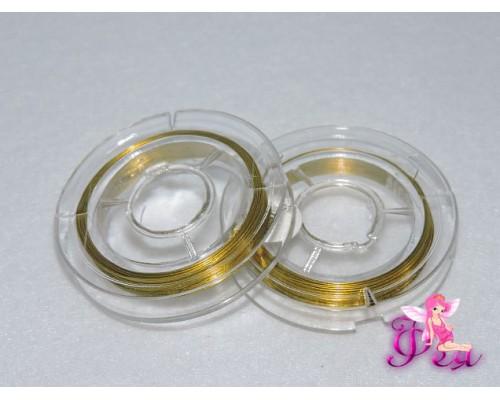 Проволока для бисера (золото) 0,3мм *10 м