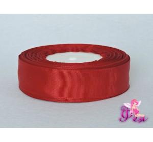 Однотонная репсовая лента 25 мм,  цв. насыщенный бордовый -1 м