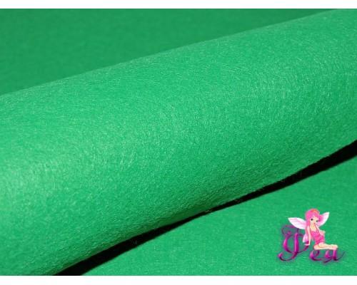 Фетр мягкий 20*30 см толщина 1 мм, цв. зеленый № 09 - 1 лист