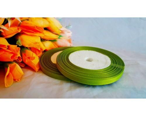Репсовая однотонная 6мм*18 м, цв. светло-зеленого