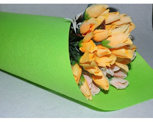 Фетр жесткий цв.ярко-зеленый 1мм (лист 41см * 49см)