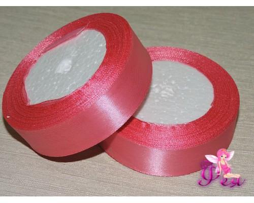 Атласная лента 25 мм, цв. розовый - 1 м