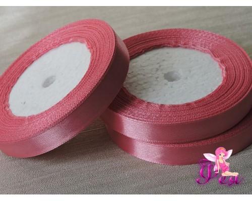 Атласная лента 12 мм, цв. пепельно-розовый - 1 м