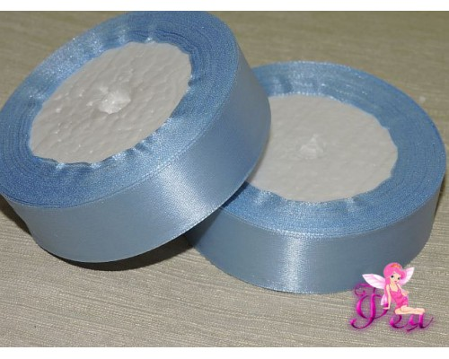 Атласная лента 25 мм, цв. серо-голубой - 1 м