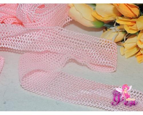 Резинка декоративная  3.7см розового цвета