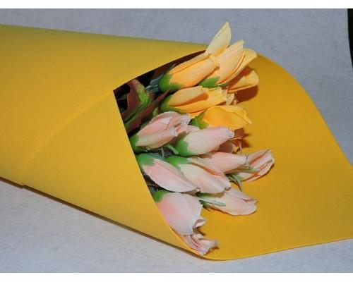 Фоамиран китайский 1мм , желтого цвета