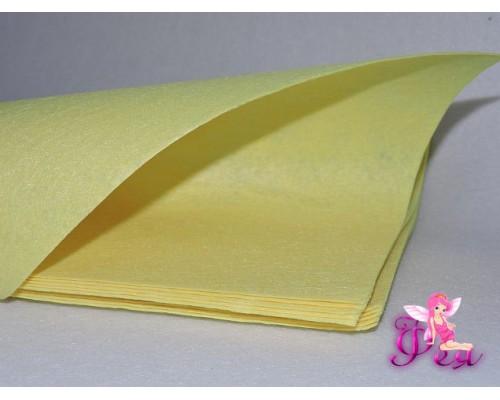 Фетр жесткий 1мм (формата А4), цв. лимонный