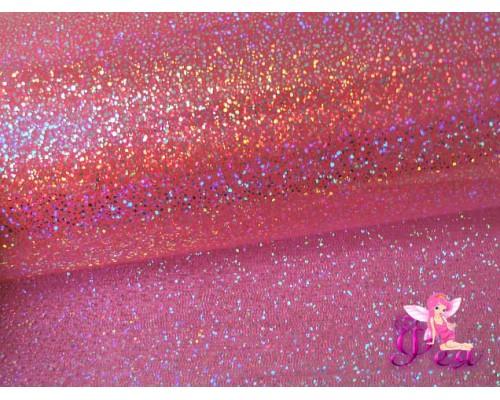 """Декоративная пленка """"Глиттер, хамелеон"""" 0,5 мм, цв. розовый"""