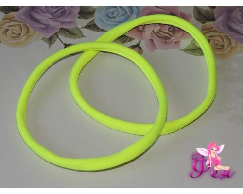 """Резинка-повязка """"One size"""", диаметр 10,5см, окружность 33 см. цв. неоновый-желтый  -1 шт."""
