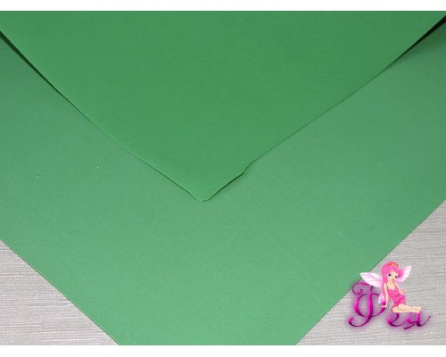 Фоамиран (Корея) 1 мм, цв.  зеленый  (25*25)