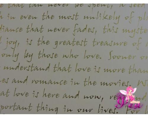 Лист бумаги одностор. Simple Flowers-Про любовь 30*30 см, 190г/м (1 лист)