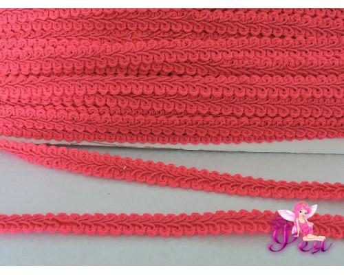 """Тесьма """"Шанель"""" 10 мм, цв. ярко-розовый №337"""