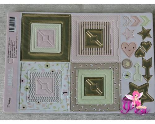 Рамки из чипборда для скрапбукинга Simple Flowers,  30 эл.