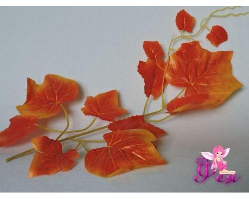 Веточка «Виноград» 30см, цв. оранжевый