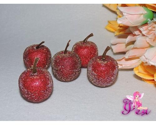 Яблоко засахаренное 3,2 см, цв. бордовый