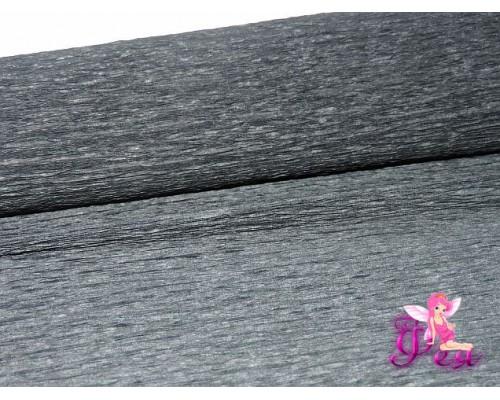 Бумага гофрированная 50 см, черный