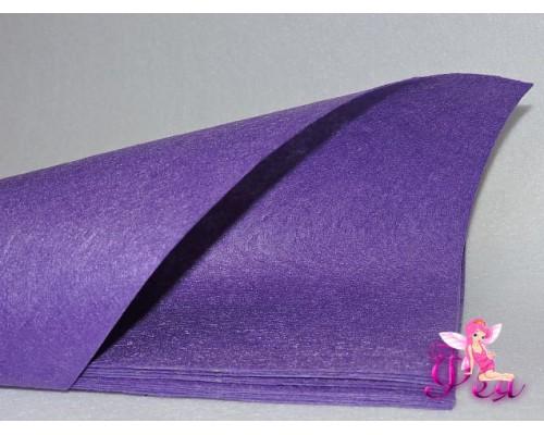Фетр жесткий 1мм (формата А4), цв. фиолетовый