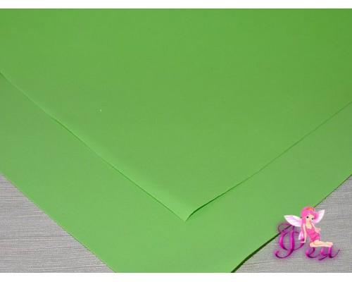 Фоамиран (Корея) 1 мм, цв.  светло-зеленый  (25*25)