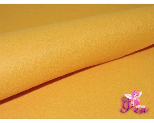 Фетр мягкий 20*30 см толщина 1 мм, цв.  темно-желтый № 07 - 1 лист