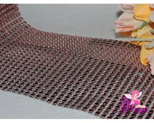 Имитация страз 24 ряда, цв. светло-розовый ( 25 см)