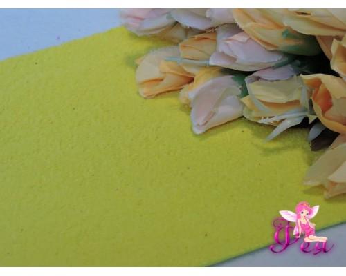 Фоамиран EVA махровый 2мм (20*30см), цв. желтый