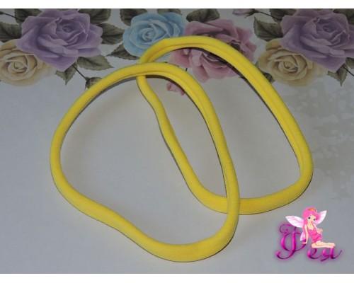 """Резинка-повязка """"One size"""",  диаметр 10,5см, окружность 33 см. цв. желтый -1 шт."""