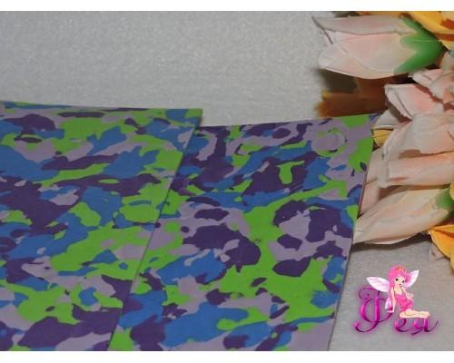 Фоамиран 2 мм, А 4 «Мраморный», цв. разноцветный с фиолетовым