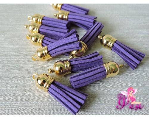 Декоративные кисточки замшевые 3,8 см, фиолетовый