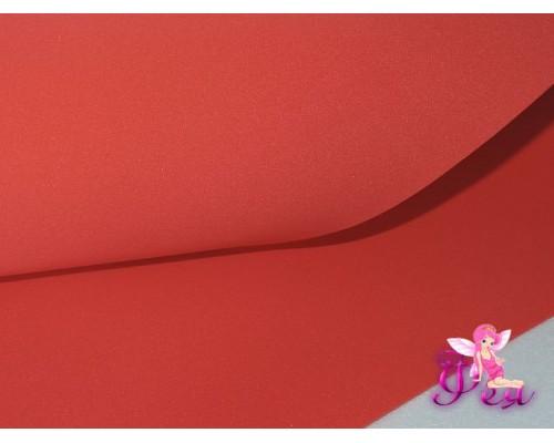 Шелковый фоамиран, толщина 1 мм, цв. красный