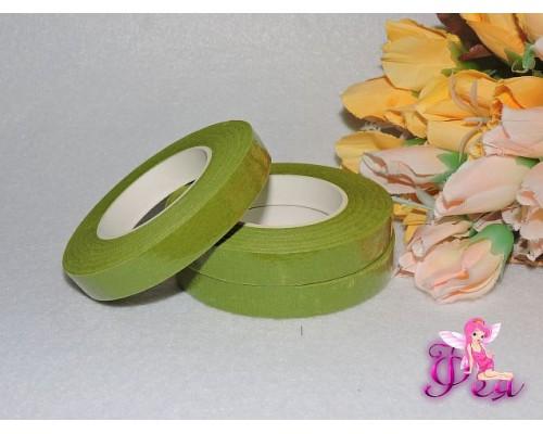 Тейп-лента 12 мм, цв. светло зеленый