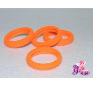 Резинки для волос 3см, цв. оранжевый
