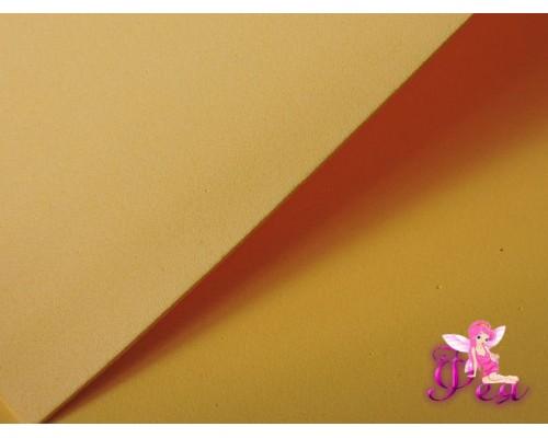 Фоамиран  толщина 2мм, цв. желтый № 18