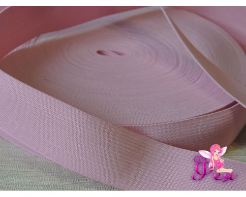 Резинка эластичная 3 см, цв. розовый