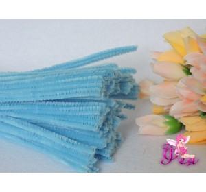 Проволока синельная, цв. голубой 1шт