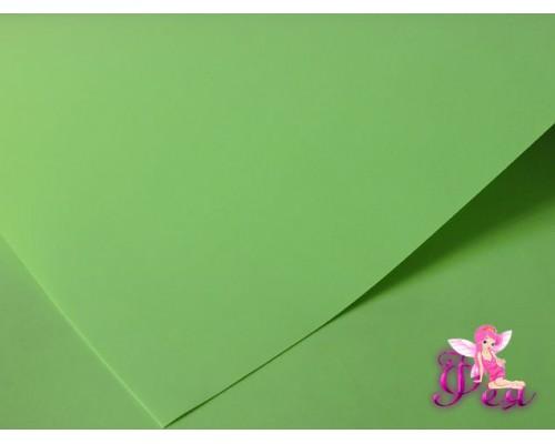 Шелковый фоамиран 1мм, цв. салатовый  №22