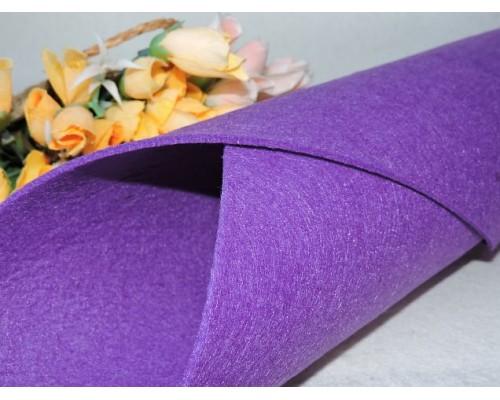 Фетр жесткий цв. фиолетовый 3мм (лист 49см * 49см)