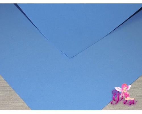 Фоамиран (Корея) 1 мм, цв.  темно-голубой  (25*25)