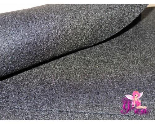 Фетр мягкий 20*30 см толщина 1 мм, цв. черный № 043 -1 лист