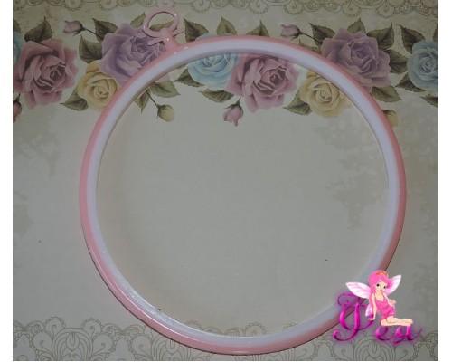 Пяльцы для вышивания, d=20,5 см, цв. розовый  - 1 шт.