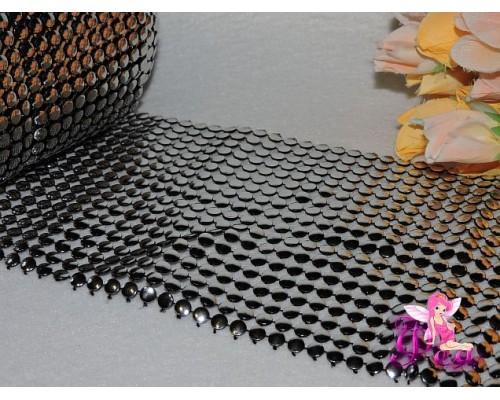 Обманки под металл 18 рядов , цв. серебро (25см)