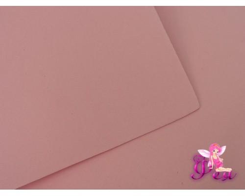 Фоамиран  толщина 2мм, цв.  нежно-розовый № 01