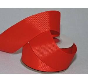 Репсовая лента 40 мм, красный - 1м